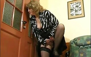 Mature babe using young boy for her sexual pleasures